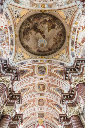 wielkopolskie: The ceiling is painted in the Church of Our Lady of Perpetual Help and St. Mary Magdalene in Poznan. Poland. Editorial