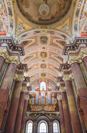 POZNAN, POLAND - AUGUST 04, 2014: Interior of Church of Our Lady of Perpetual Help and St. Mary Magdalene on August 04, 2014. Poland Editorial