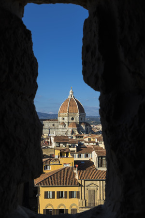 The Basilica di Santa Maria del Fiore (Basilica of Saint Mary of the Flower) is the main church of Florence. Italy photo