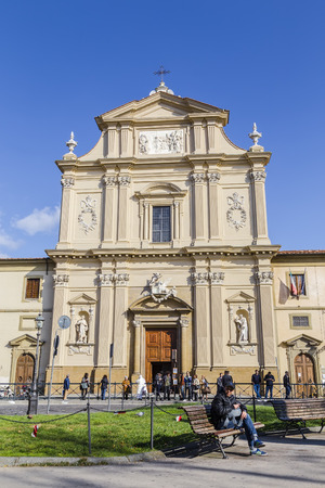 ITALY, FLORENCE - OCTOBER 27, 2014: Convent of San Marco in Florence