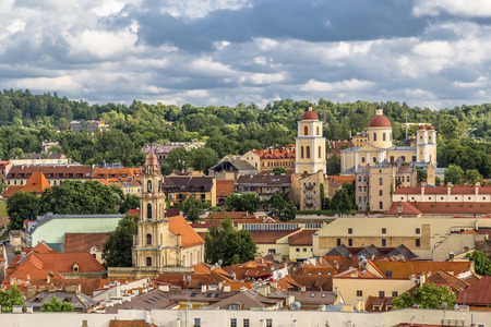 View of the Old Town. Vilnius. Lithuania. Imagens