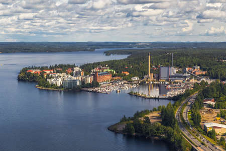 One of the areas of Tampere. Finland Stock Photo