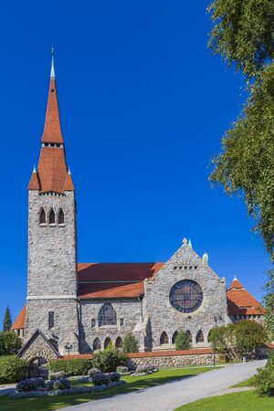 Tampere Cathedral is a Lutheran church in Tampere. Finland. Stock Photo