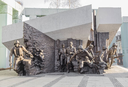 uprising: WARSAW - MARCH 2014: Monument to the Heroes of the Warsaw Uprising. Warsaw, Poland on MARCH 10, 2014