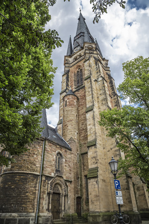 The Church of Our Lady was since 1230, the town church of Wernigerode. Germany Stock Photo