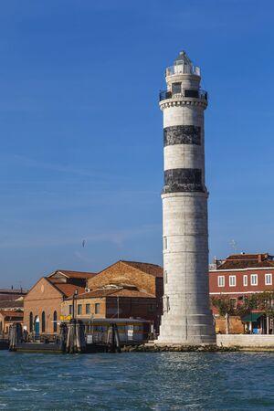 Murano: Lighthouse on the island Murano. Venice. Italy Stock Photo