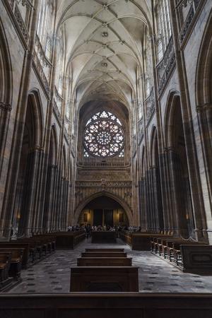 vitus: Interior of Saint Vitus Cathedral in Prague, Czech Republic Editorial
