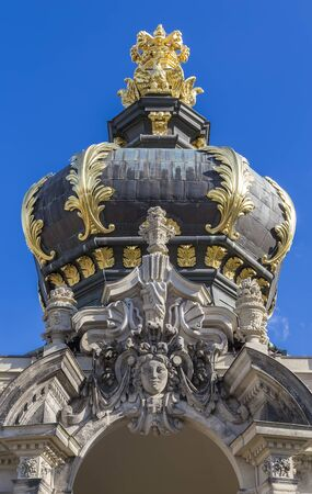 Kronentor or Crown Gate. Zwinger Palace. Dresden, Germany. Editorial