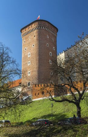 the existing: Senatorial Tower (Lubranka) - one of the three currently existing towers Wawel Castle, Krakow, Poland Editorial
