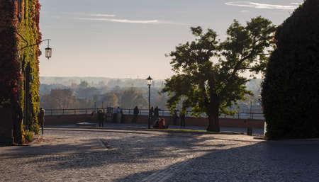 The observation deck on Wawel Hill. Krakow. Poland Stock Photo