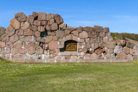 sund: Remains of the fortress of Bomarsund, situated on the territory of the �land Islands in the municipality of Sund, Finland