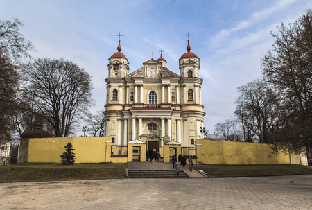 Church of Saints Peter and Paul in Vilnius. Lithuania