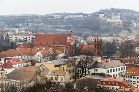 st  francis: St. Francis of Assisi (Bernardine) Roman Catholic Church and Church of St. Anne. Vilnius