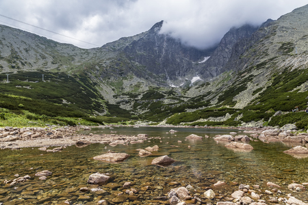 Mountain Lake in the High Tatras. Slovakia