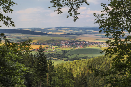 View of the town Hrabushitse in Slovak Paradise National Park