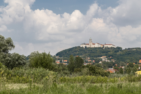 Catholic territorial abbey in Hungary, in the town of Pannonhalma. Hungary Stock Photo