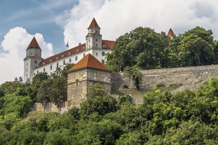 Bratislava Castle - the most important and central Castle in Bratislava. Slovakia Editorial