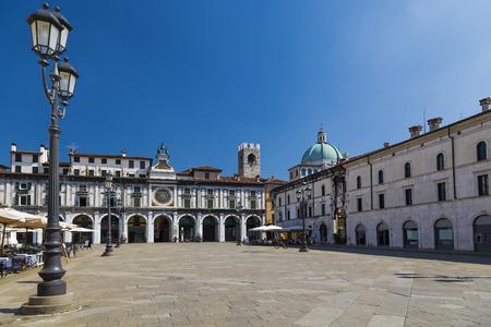 Piazza della Loggia in Brescia. Italy