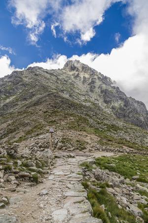 Lomnicky peak - a mountain in the High Tatras. Slovakia Stock Photo
