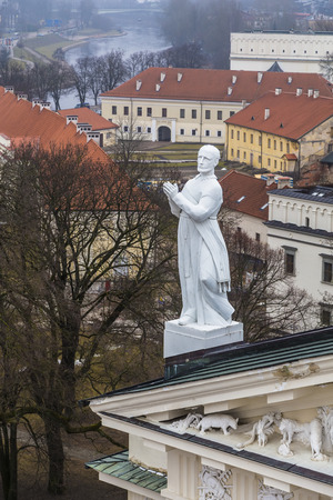 St. Stanislaus Sculpture on the cathedral. Vilnius. Lithuania