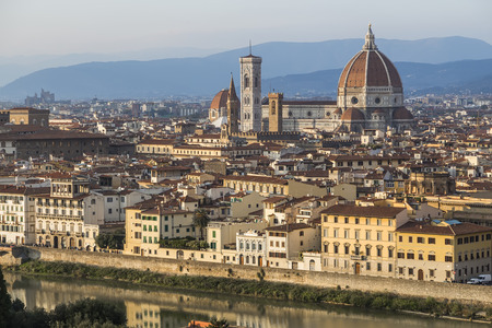 Urban landscape - the historic center of Florence. Italy