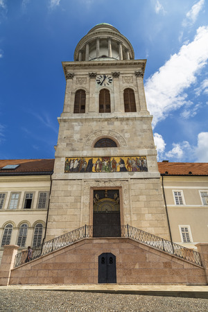 monastic sites: High Tower Abbey of Pannonhalma in Hungary Stock Photo