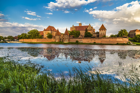 Marienburg Castle is one of the world's largest brick castles, serving as the residence of the masters of the Teutonic Order Archivio Fotografico