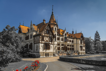 The castle of Leshna was built according to the design of the Viennese architect Johann Mick in 1893. Zlín. Czech Republic