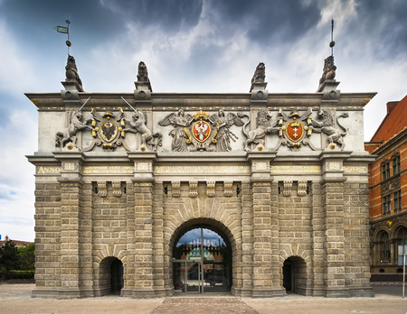 The upper gate of the city of Gdansk, built in 1588 by Willem van den Blode. Until 1895 served as the main entrance gate to the city, opening a series of so-called Dear Royal