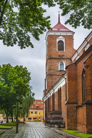 Cathedral of Saints Peter and Paul in Kaunas. Lithuania. The date of foundation is completely unknown, the available documents say that in 1413 the parish already existed.