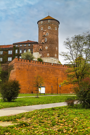 Senators Tower or Lyubranka - one of the three existing towers, is located on the southern part of the Wawel fortifications. Krakow. Poland Stock Photo