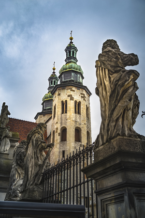 The Church of St. Andrew in the center of Krakow. Poland