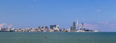 Panorama of the city of Batumi and the port of Batumi from the Makhinjauri settlement