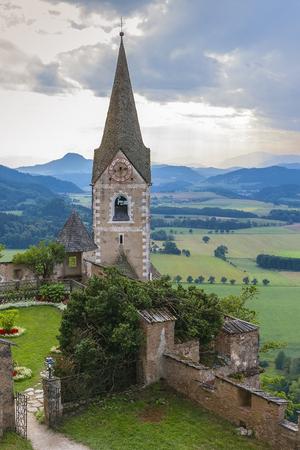 Church tower in hochosterwitz castle Editorial