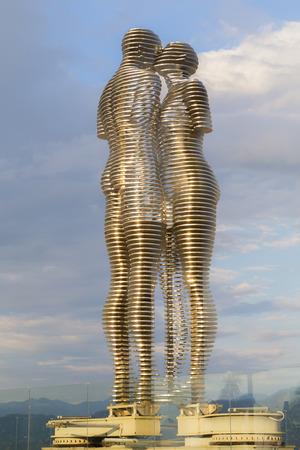 Batumi, Georgia - August 04. 2018: The landmark statue.