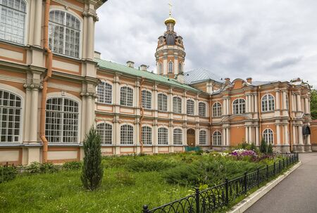 Saint Petersburg, Russia - Trinity Cathedral of the Alexander Nevsky Lavra Stok Fotoğraf