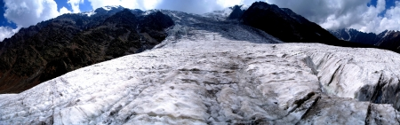 Icefall and glacier Maily in North Ossetia  Caucasus, Russia     photo