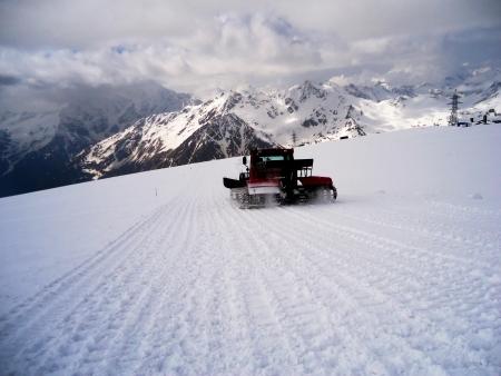 snowcat: Snowcat on the slope Elbrus  Stock Photo