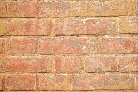 brickwork: The battered red brickwork