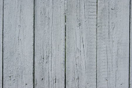 Wooden fence, painted in gray   photo