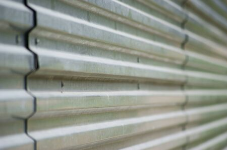 Corrugated metal surface  photo