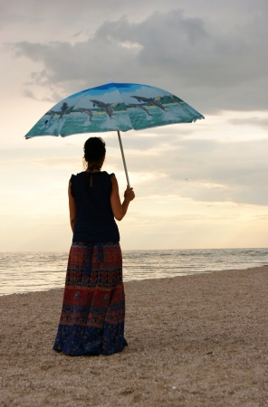 The woman on the seashore Stock Photo - 20195631