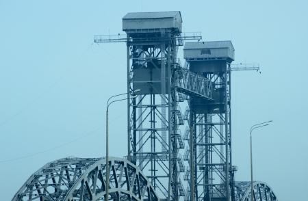 Railway bridge the city of Rostov-on-Don  photo