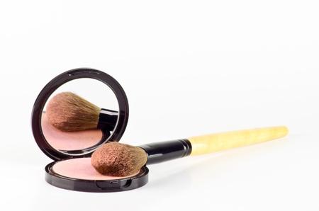 化粧ブラシと化粧品粉末