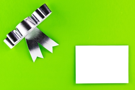 green Gift  with a blank card photo