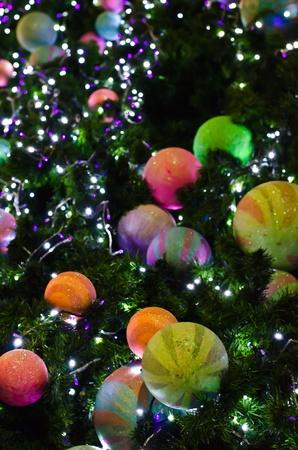 Christmas ballon the tree