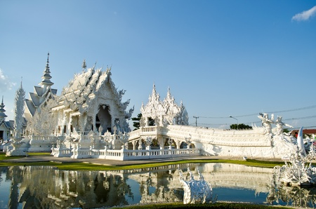 Beautiful white temple  Stock Photo