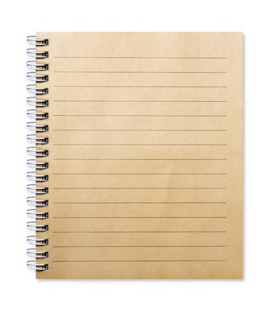 リサイクル紙から作られた古いノート