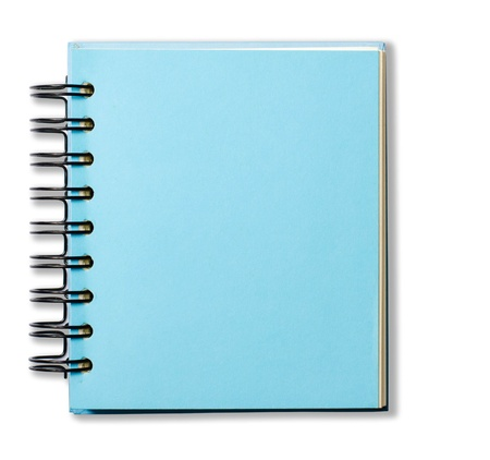 Blue Cover Note Book Stock Photo