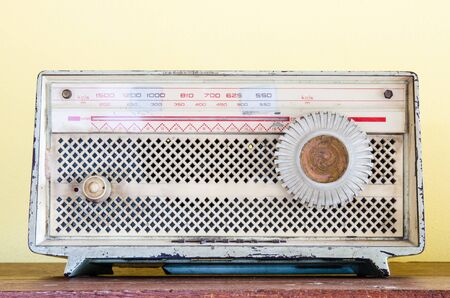 vintage radio: Old retro radio
